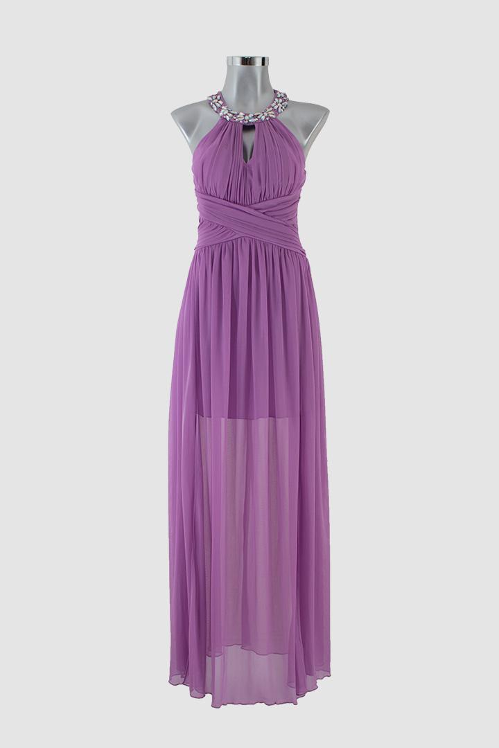 Vestido largo lila - LEMONROB