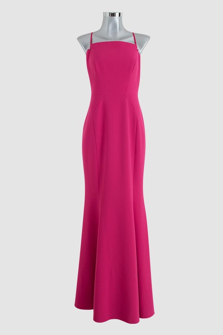 Vestido largo rosa mexicano - LEMONROB